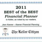 Best Financial Planner Award 2009 – 2011