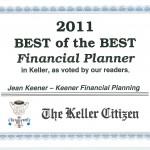 Best Financial Planner Award 2009 – 2011