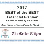 Keller Best Financial Planer 2009 – 2012
