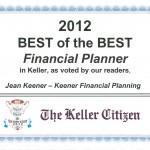 Keller Best Financial Planer 2009 – 2012